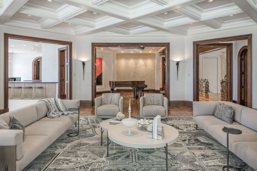 Private Beachfront Estate Living Room
