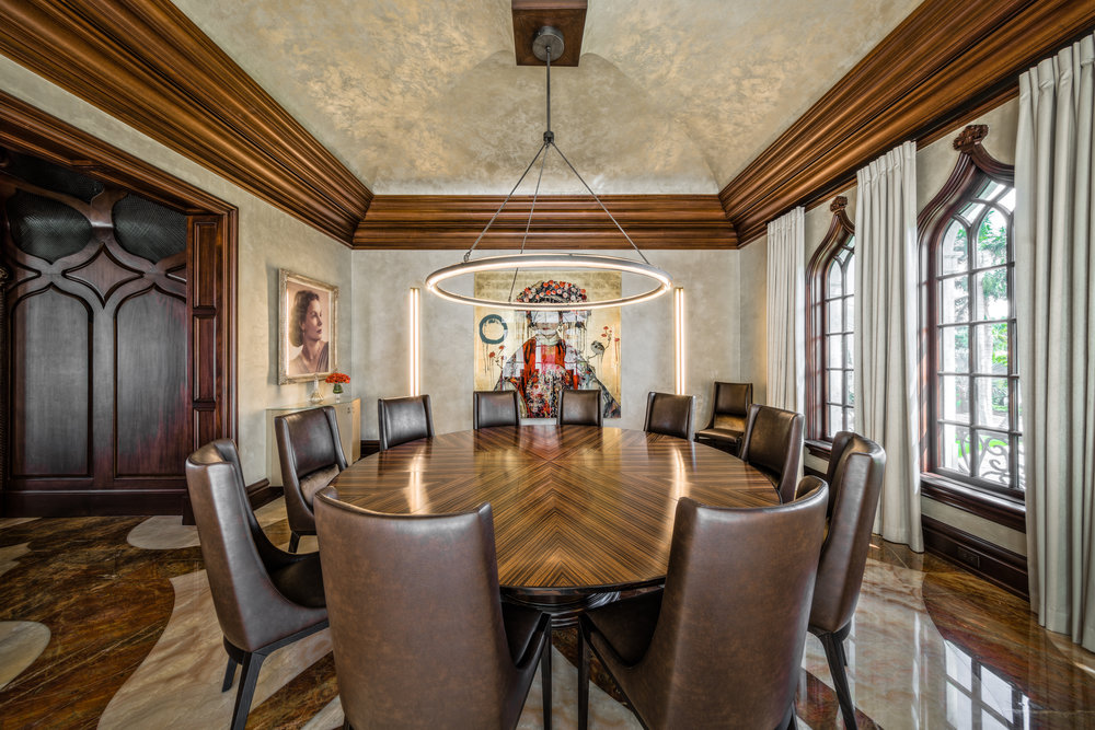 Private Beachfront Estate Formal Dining Room
