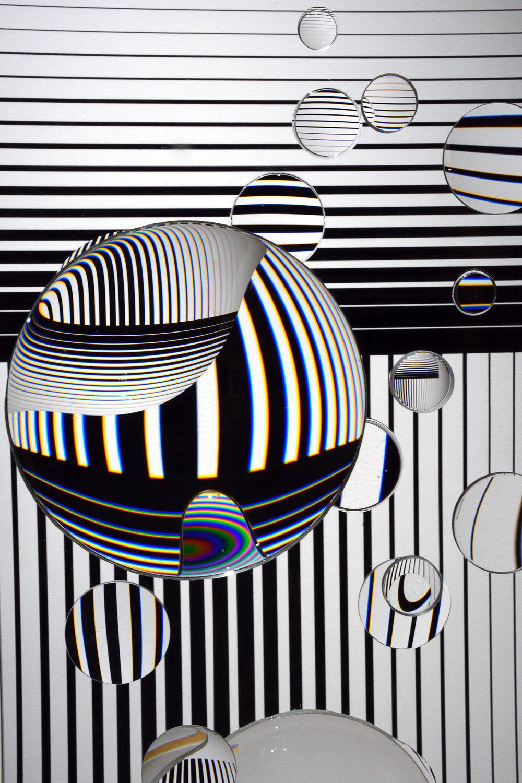 Dylan Martinez, Inverted Logic, 2017, Camera Lens, Float Glass, Vinyl, Dimensions Vary (Detail)
