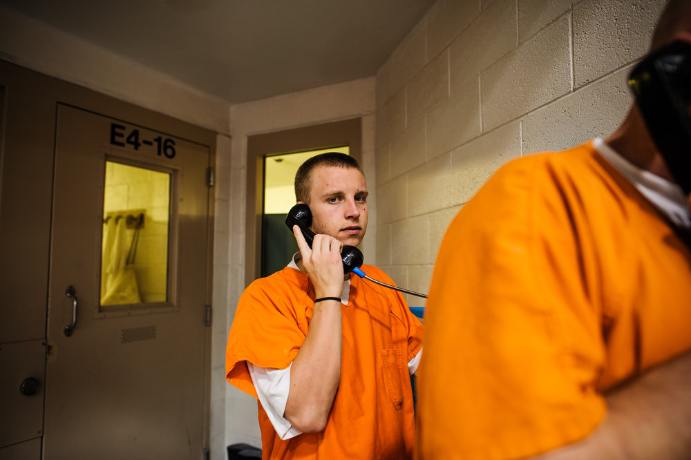 David, age 19, calls Felicia from inside the Metropolitan Detention Center in Albuquerque, 2012.