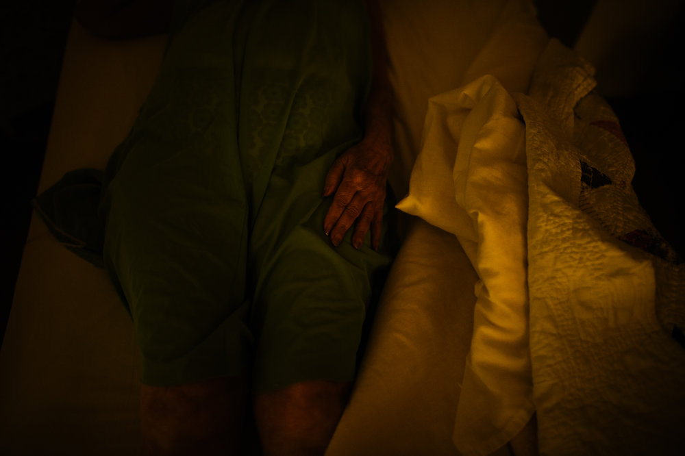 Bianca, age 87, in bed, 2012.