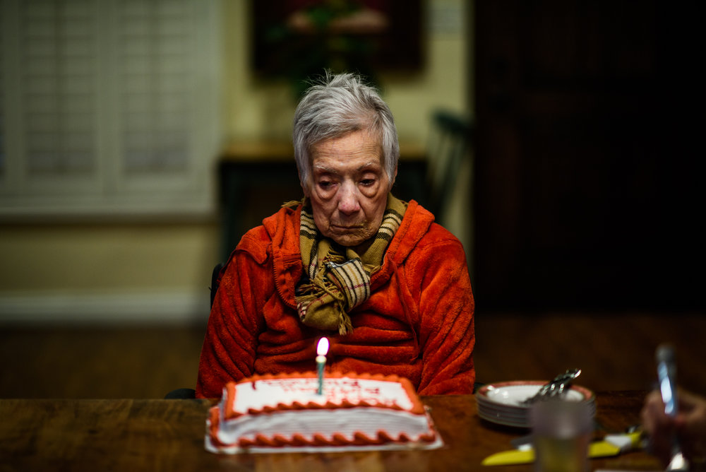 Bianca, age 93, on her birthday, 2018.
