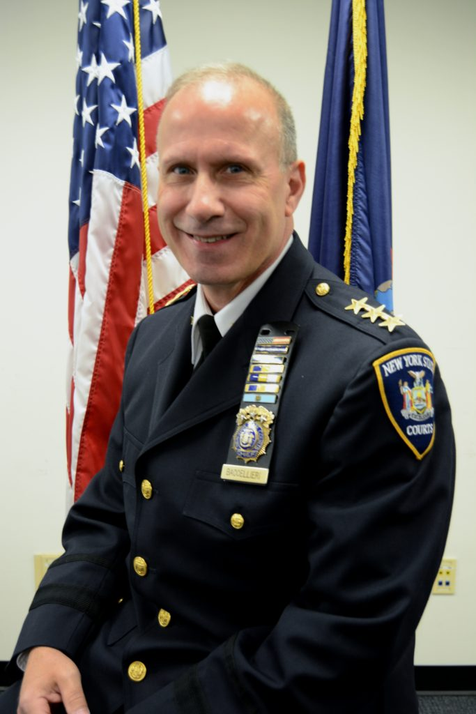 Chief Joseph Baccellieri, Jr is the commanding officer and chief of training at the New York State Court Officers Academy. // Photo courtesy of Baccellieri.