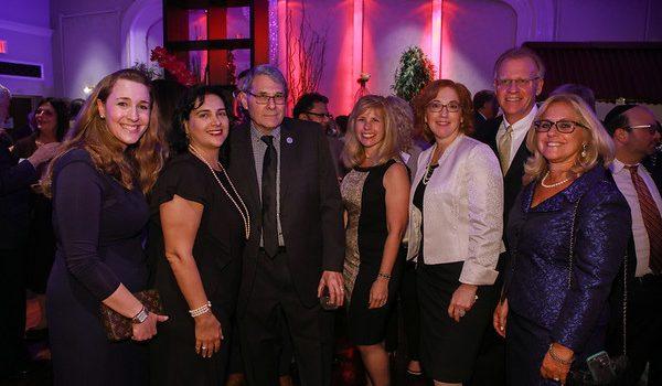Elizabeth Forspan, Esq., Hon. Mojgan Lancman, Ed Schachter, Esq., Janet Keller, Esq., Hilary Gingold, Esq., Michael Cervini, Esq. and Hon. Jodi Orlow at the Brandeis Association's 2017 Installation Dinner. Photo Courtesy of the Brandeis Association.