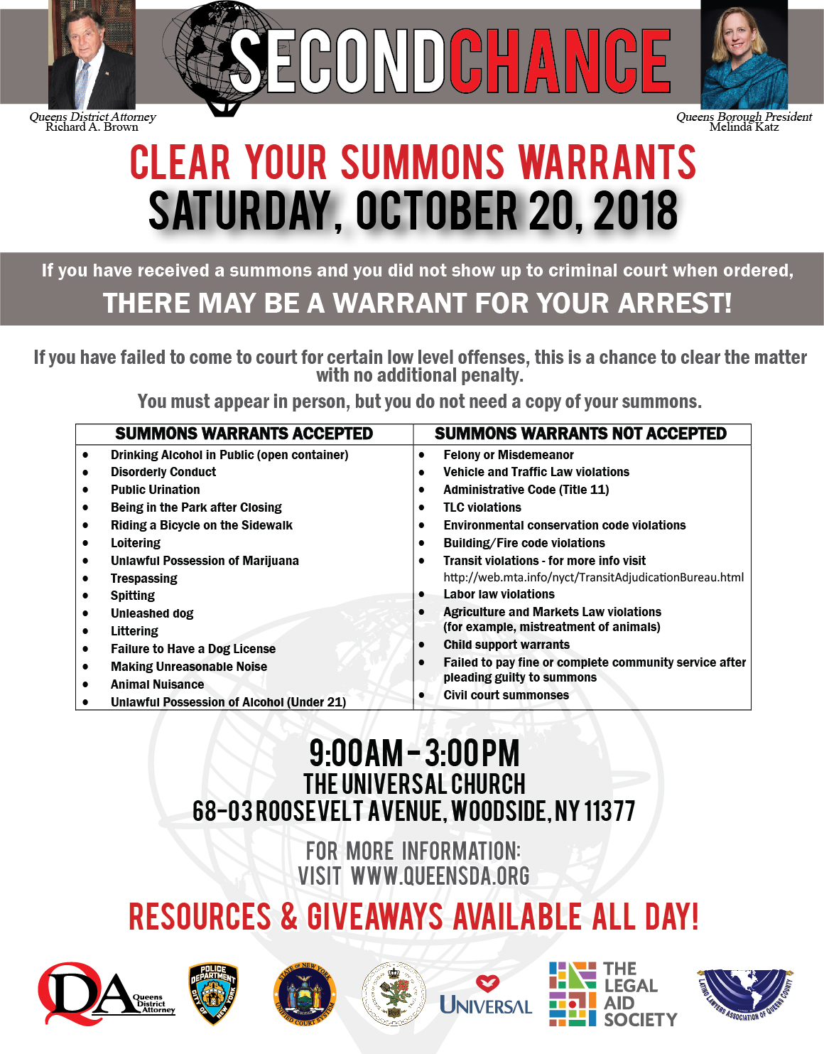 Warrant Clearing Offers 'Second Chance' For Those Who First Show Up