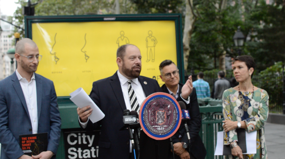 Councilmember Rory Lancman and the Community Service Society of New York sued the city and NYPD to release fare evasion arrest data as mandated by a 2017 law. // Photo courtesy of Rory Lancman