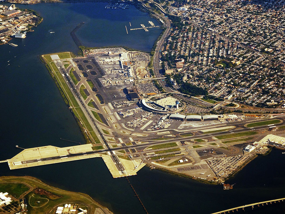 The proposed AirTrain to LaGuardia Airport would potentially relieve heavy traffic in the area around the airport. Photo courtesy of Patrick Handrigan.
