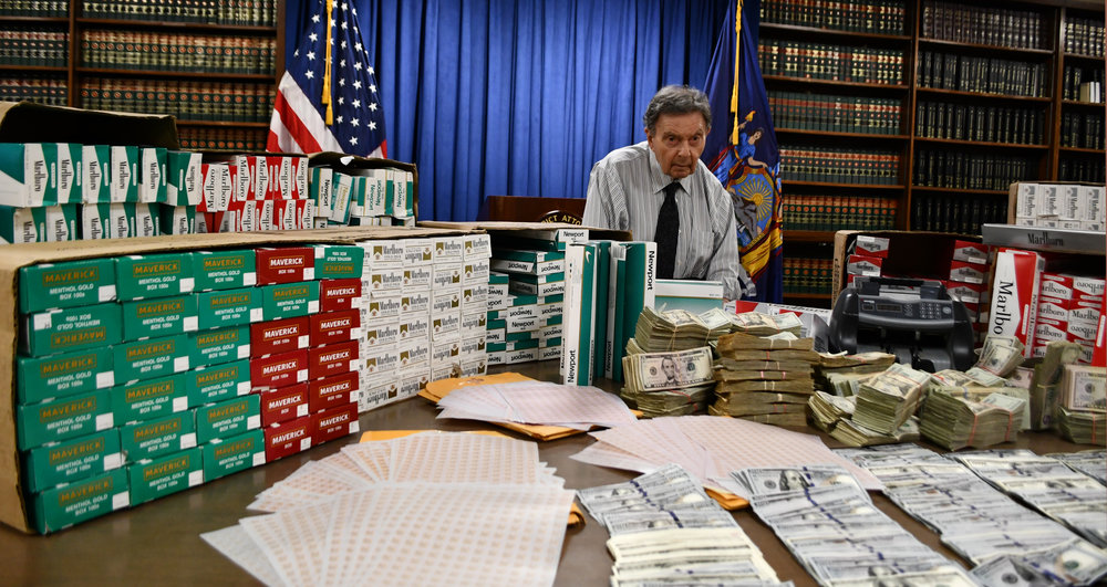 In September, Queens District Attorney Richard Brown announced charges against Queens cigarette smugglers. Photo courtesy of Queens DA's office.