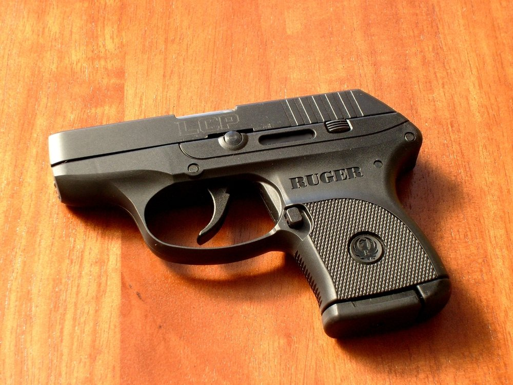 A Ruger .380, one of the handguns Justin McNeill allegedly sold to an undercover detective. Photo by James Case.