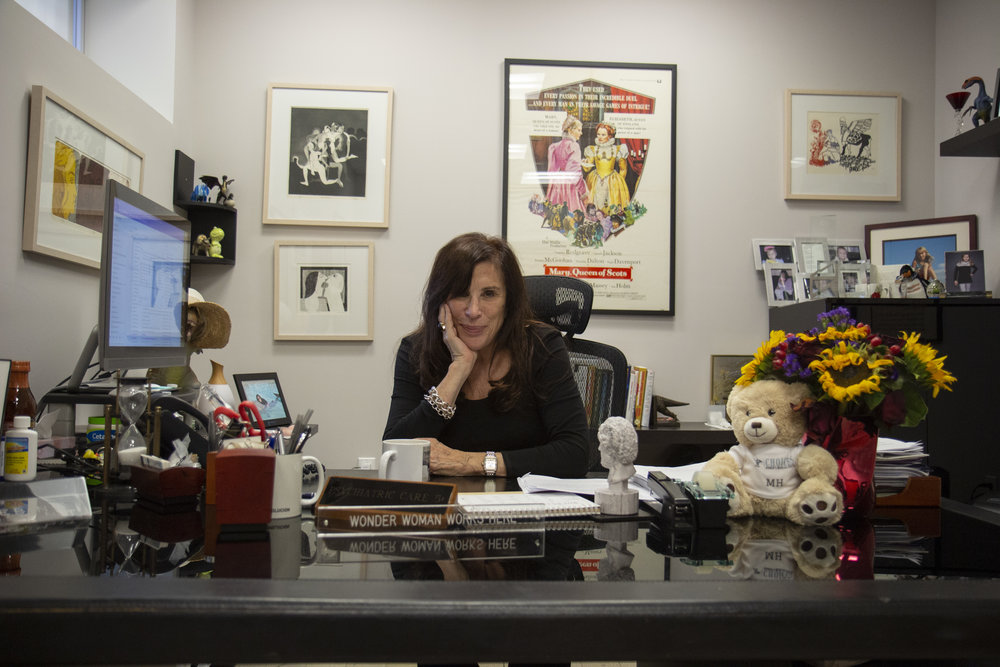Choices founder Merle Hoffman inside her Jamaica office.