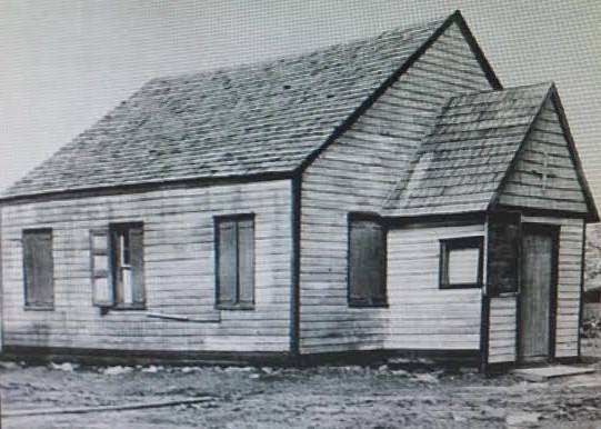 The first church building of the United African Church and Cemetery, founded in 1828 on the site of the African Burial Ground in Emlhurst. Photo courtesy of HDC.