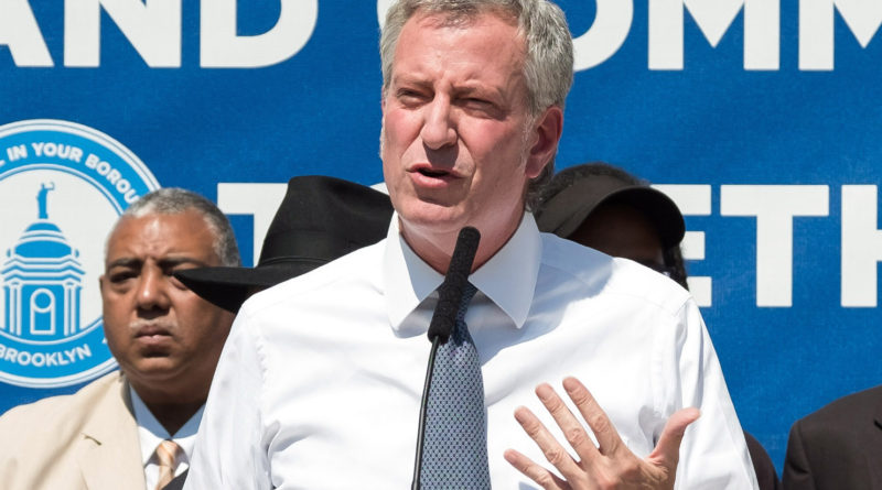 Mayor Bill de Blasio. Photo courtesy of the Mayor's office.