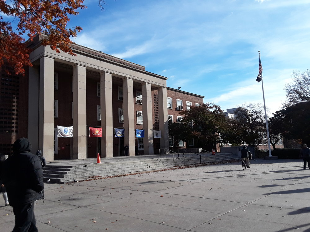 Queens Borough Hall on Queens Boulevard.  Eagle  photo by Christina Carrega.