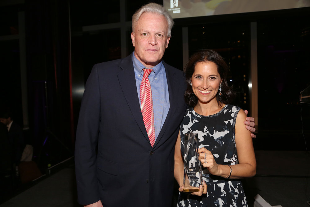 TEAK Executive Director John Green and TEAK founder Justine Stamen Arrillaga at the TEAK Fellowship 20th Anniversary Gala held in late October. Photo courtesy of TEAK.