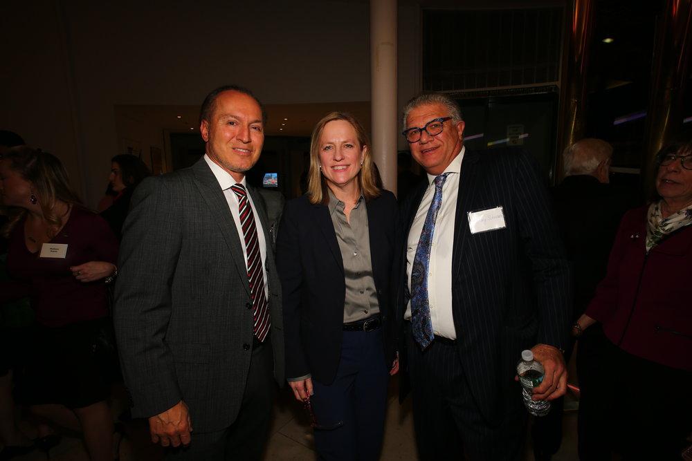 From left, Judge Peter Vallone, Jr., Queens Borough President Melinda Katz and Gary Schwartz