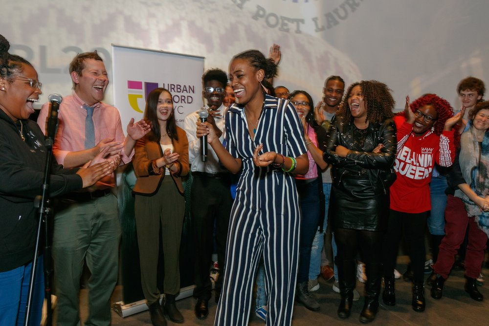 Queens native Camryn Bruno earned the NYC Youth Poet Laureate title in November. Photo via NYC Votes.