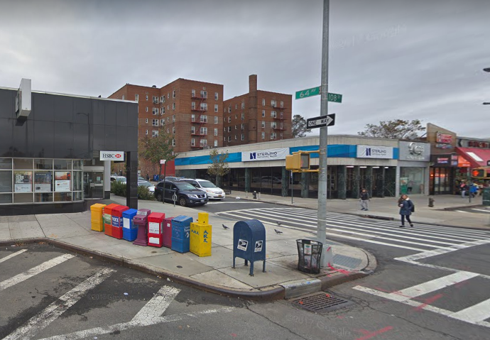 The mailbox in Forest Hills allegedly pilfered by Velazquez. Photo via Google Maps.