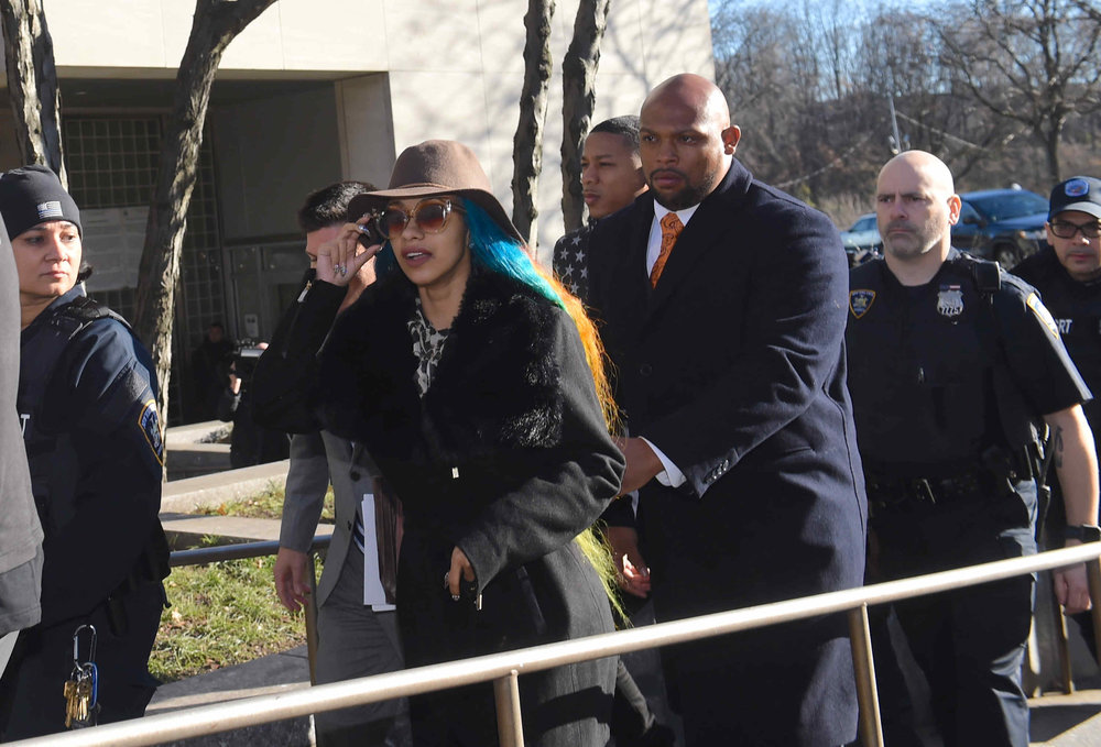 Cardi B. leaving Queens Criminal Court.  Eagle  photo by Todd Maisel