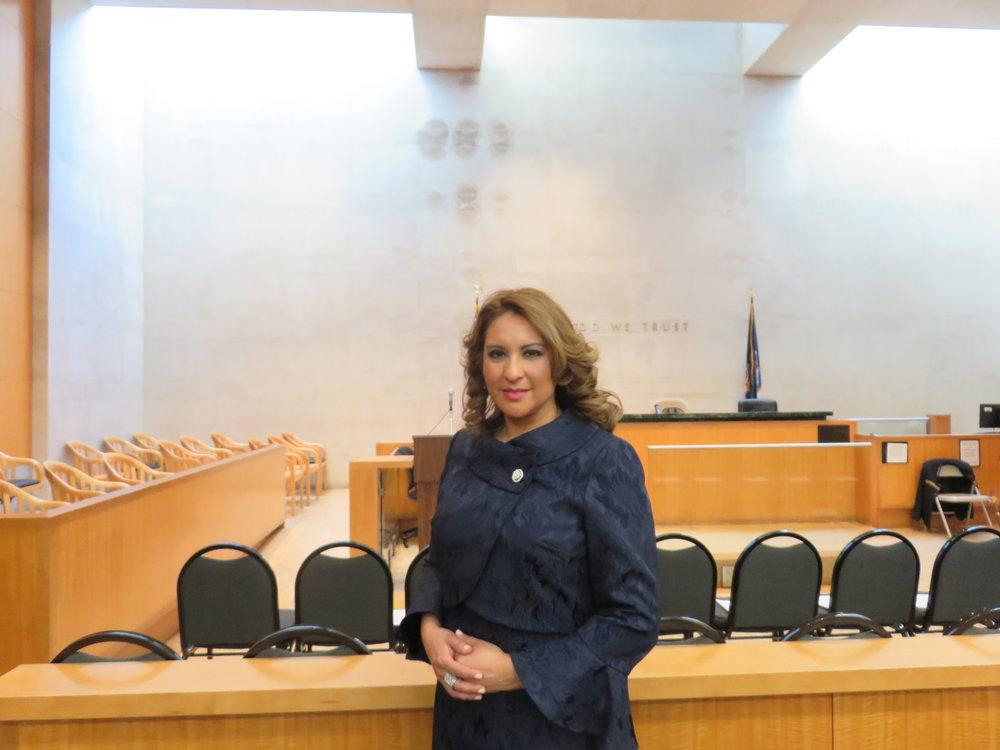 Judge Karina Alomar.  Eagle  photo by David Brand