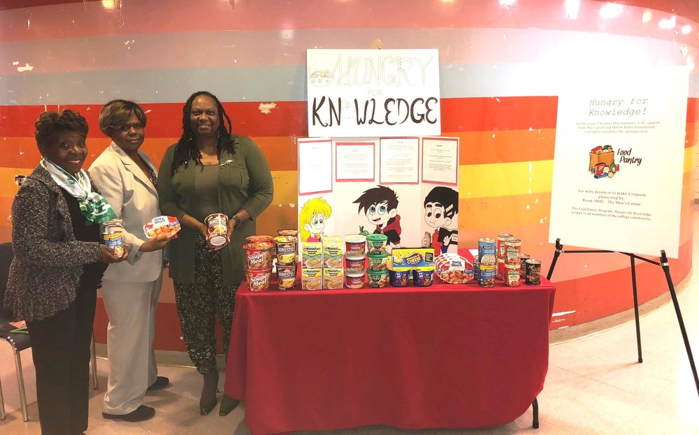 York College's food pantry receives a donation from the Greater Queens Chapter of the Links.