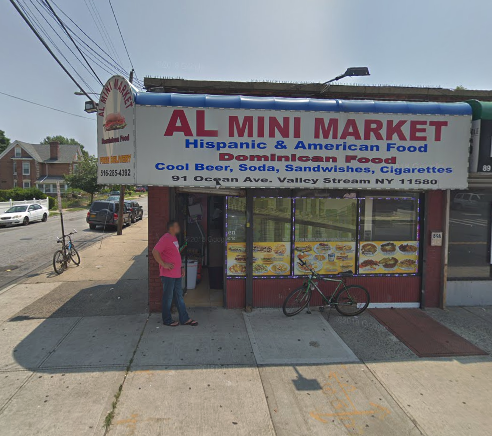 Jermaine Jackson and another man killed a clerk while robbing AL Mini Market in Valley Stream. Jackson was sentenced to 30 years in prison Monday. Photo via Google Maps.