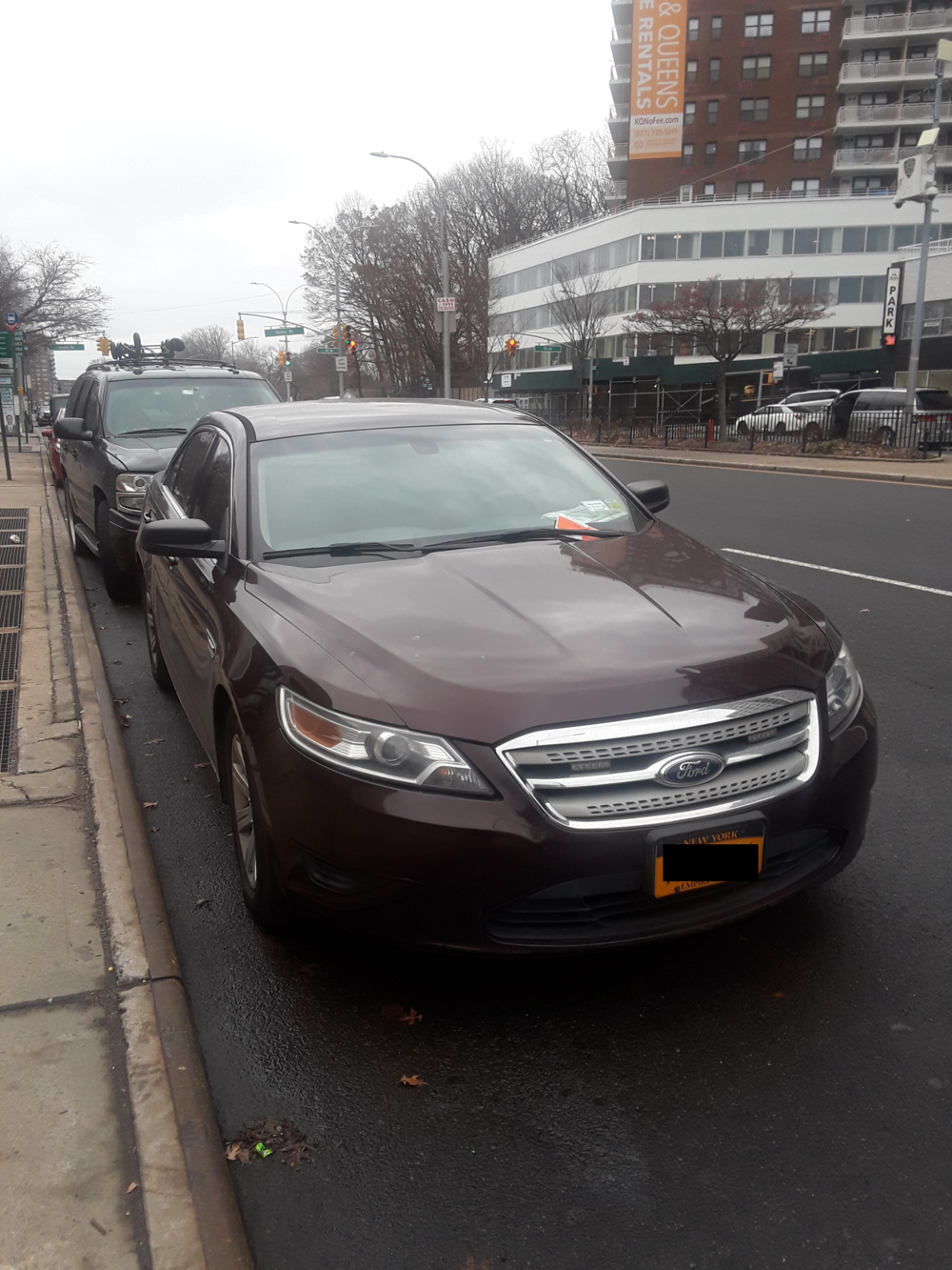 After the  Eagle  asked the Mayor's Office about city employees taking over NYP Parking Zones, the same burgundy car that parked on the Queens Boulevard median on Dec. 11 without a ticket parked in the NYP Parking Zone on Dec. 14 and received a ticket.