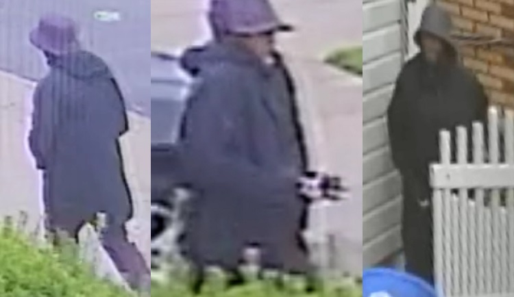 Still image of the murder suspect before and after stabbing Mario Cesar on June 28. Photo courtesy of the NYPD.