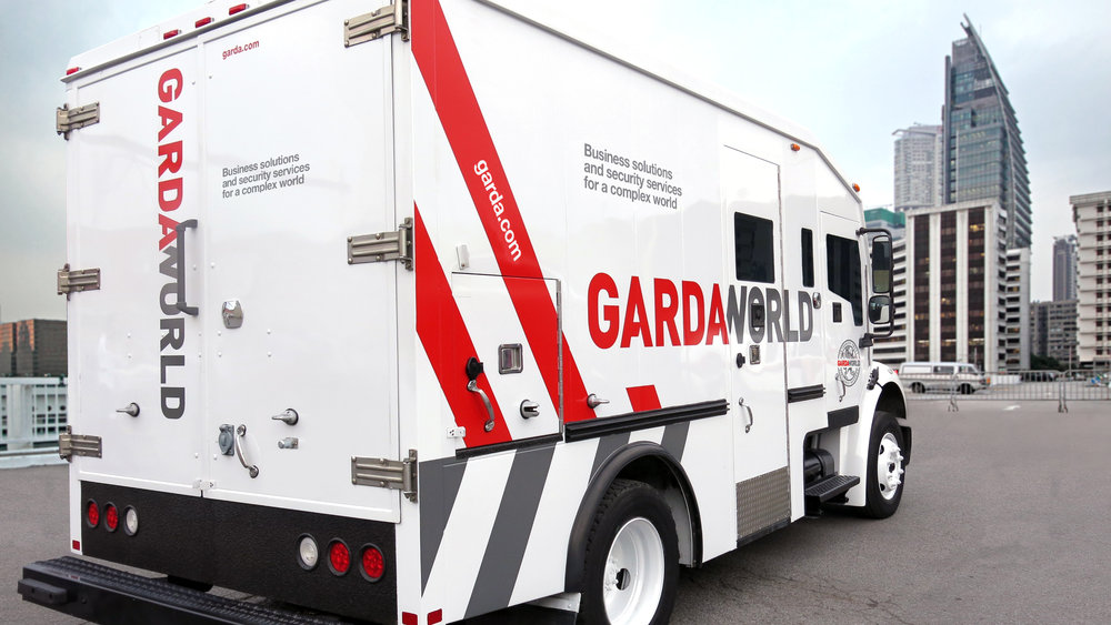 A GardaWorld armored truck. Photo by Kount Montreal.