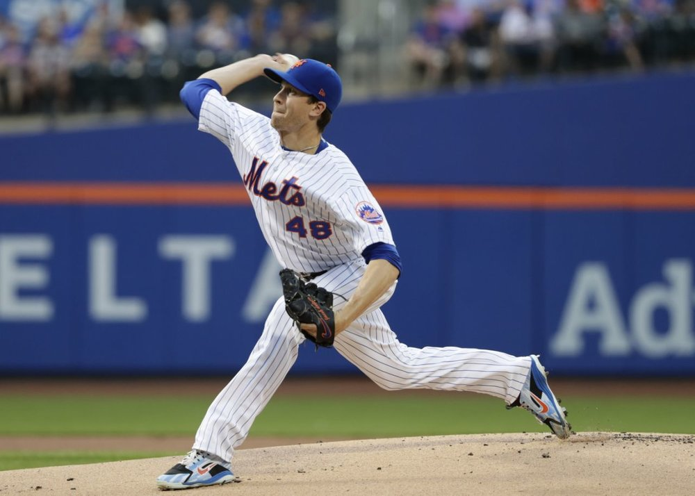 Mets ace Jacob DeGrom dominated hitters on his way to winning the 2018 National League Cy Young award. AP Photo/Frank Franklin II.