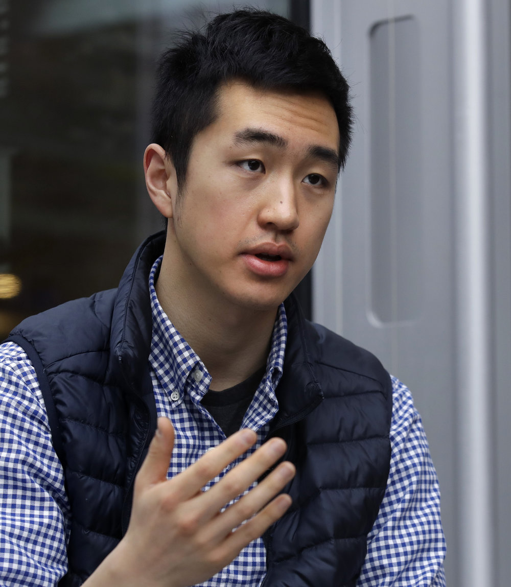 Park, who is an undocumented student, participates in the Deferred Action for Childhood Arrivals program (DACA), and said he is not sure if he'll be allowed back in the U.S. after his studies in the United Kingdom. AP Photo/Charles Krupa.