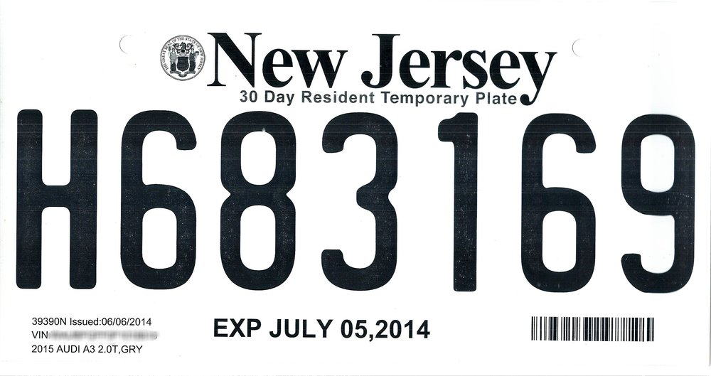 The crew came to the NYPD's attention when they allegedly advertised counterfeit New jersey temporary license plates on Craig's List. adp1997/Creative Commons