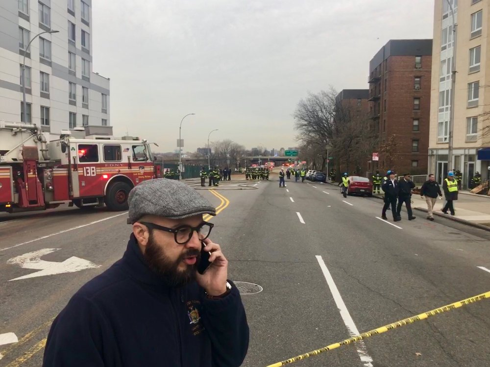 After a cave-in at a Northern Boulevard construction site, Councilmember Francisco Moya is looking into whether the DOB can create a unit dedicated to monitoring sites with stop-work orders. Photo courtesy of Moya's office