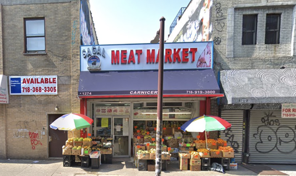 An employee at the Sagal Meat Market at 1274 Broadway in Bed-Stuy called a customer a racist slur. Photo via Google Maps