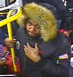 Photo of robbery suspect onboard the Q65 bus Dec. 15. Photo courtesy of the NYPD