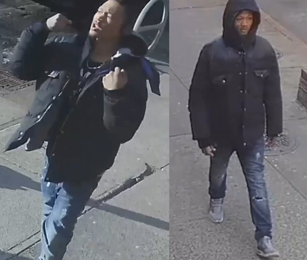Dontae Bennett allegedly stands nearby the scene of an assault and robbery at Family Laundry in Woodhaven. Photo courtesy of the NYPD.