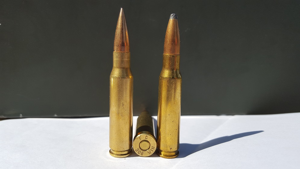 Examples of .308 caliber ammunition, similar to the kind found in Hoo's home. Photo by JHobbs via Wikimedia.