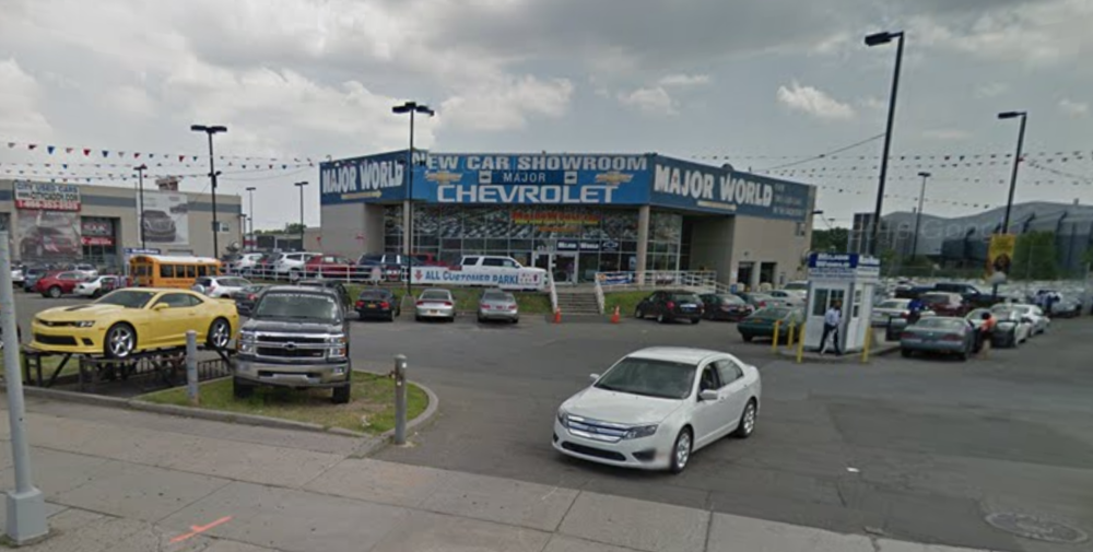 A Major World car dealership in Long Island City. The chain of dealership is forced to pay $3 million to consumers for duplicitous business practices. Photo via Google Maps.
