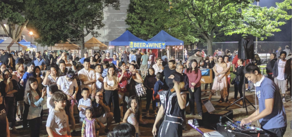 The Queens Night Market will return to Flushing Meadows Corona Park on April 20. Photo via Queens Night Market.