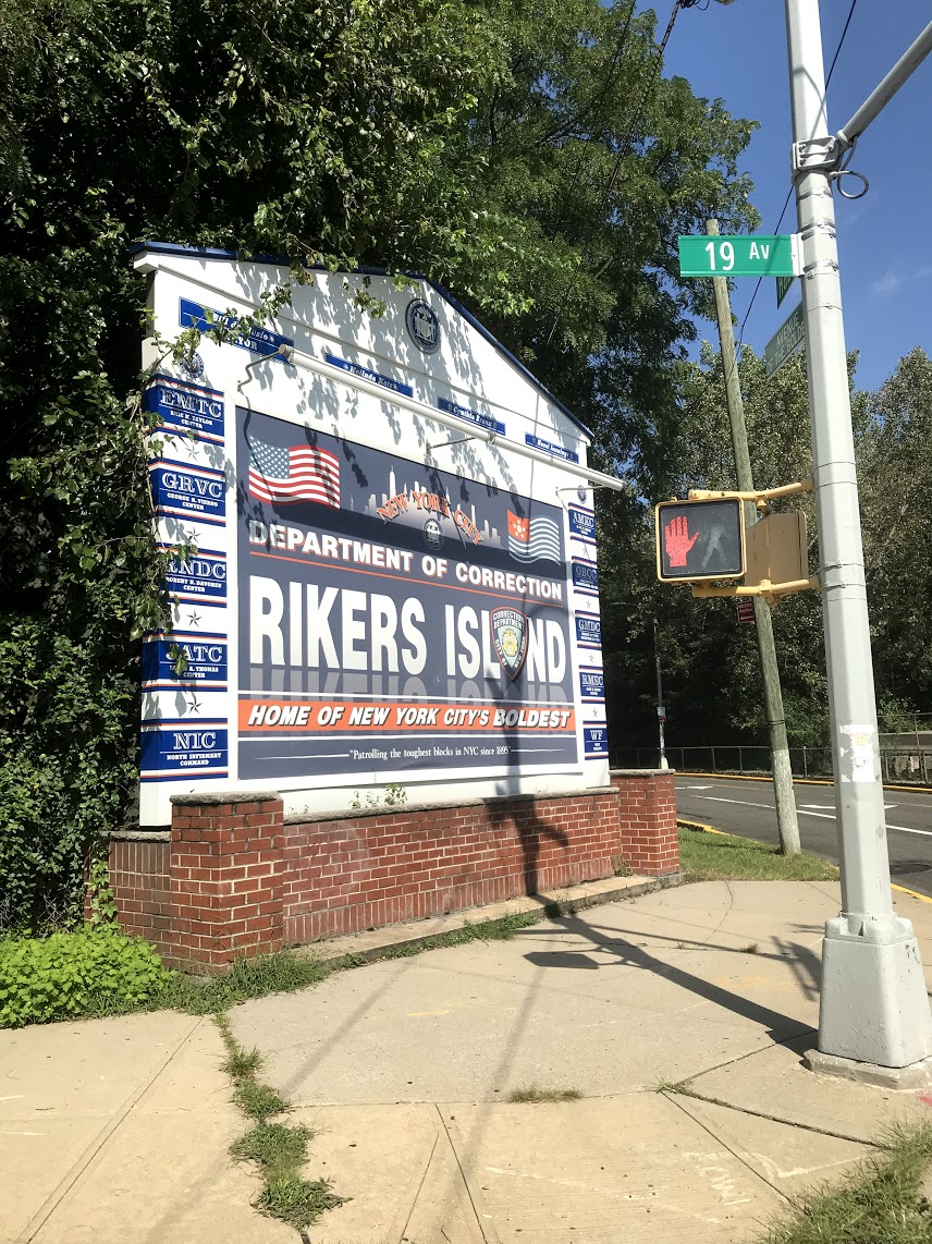 The entrance to Rikers Island in East Elmhurst.  Eagle  photo by David Brand