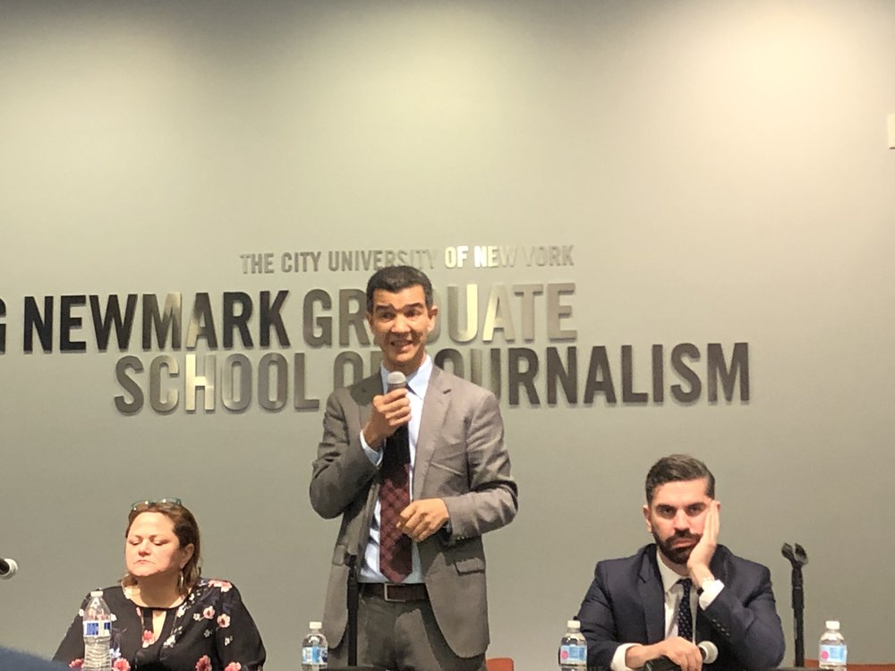Councilmember Ydanis Rodriguez discussed the Willets Point development at the candidates forum.  Eagle  photo by Naiesha Rose.