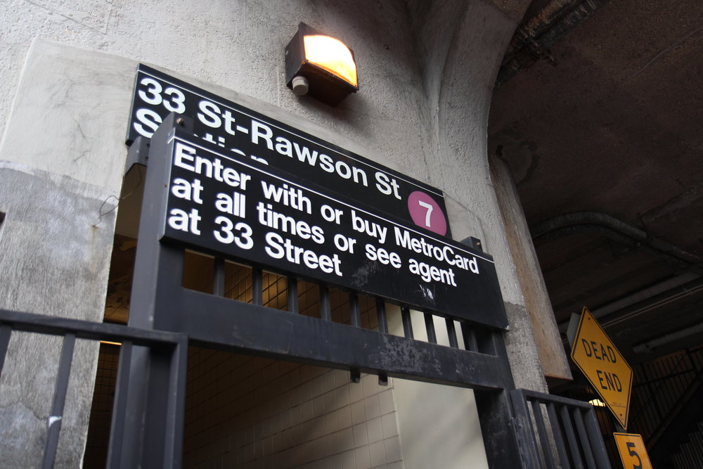 The 33rd Street - Rawson Street No. 7 train station in Long Island City.  Eagle  photo by Jonathan Sperling.