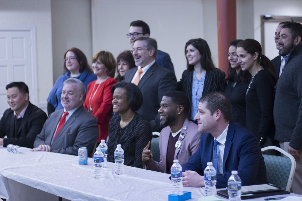 Eleven candidates for public advocates discussed school segregation at a forum in Long Island City Tuesday night.  Eagle  file photo by Victoria Merlino.