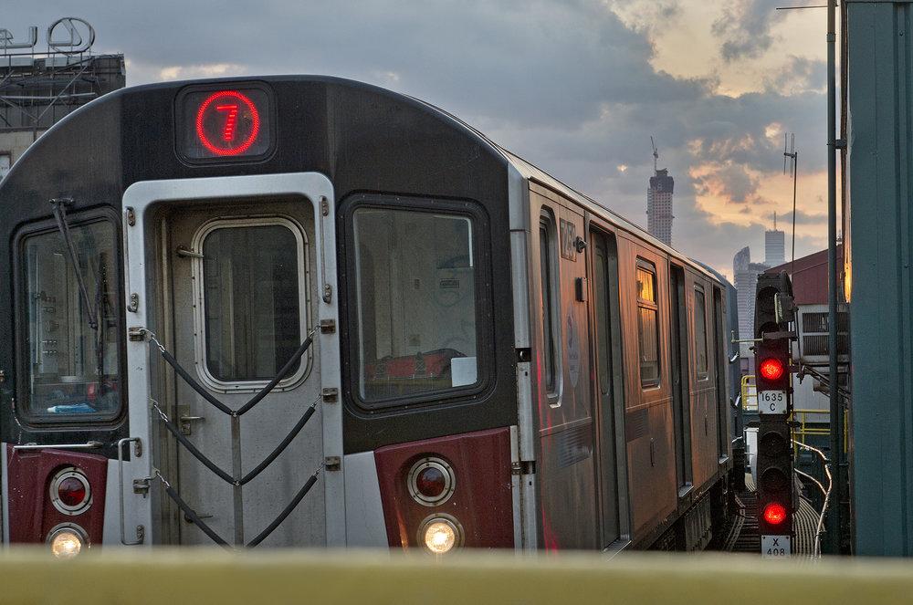The No. 7 train. Photo via the MTA/Patrick Cashin.