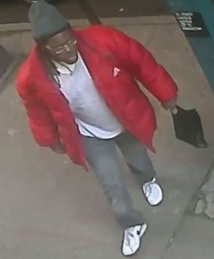A surveillance image of the suspect wanted for exposing himself to a 9-year-old girl on a No. 7 train. Photo courtesy of the NYPD.