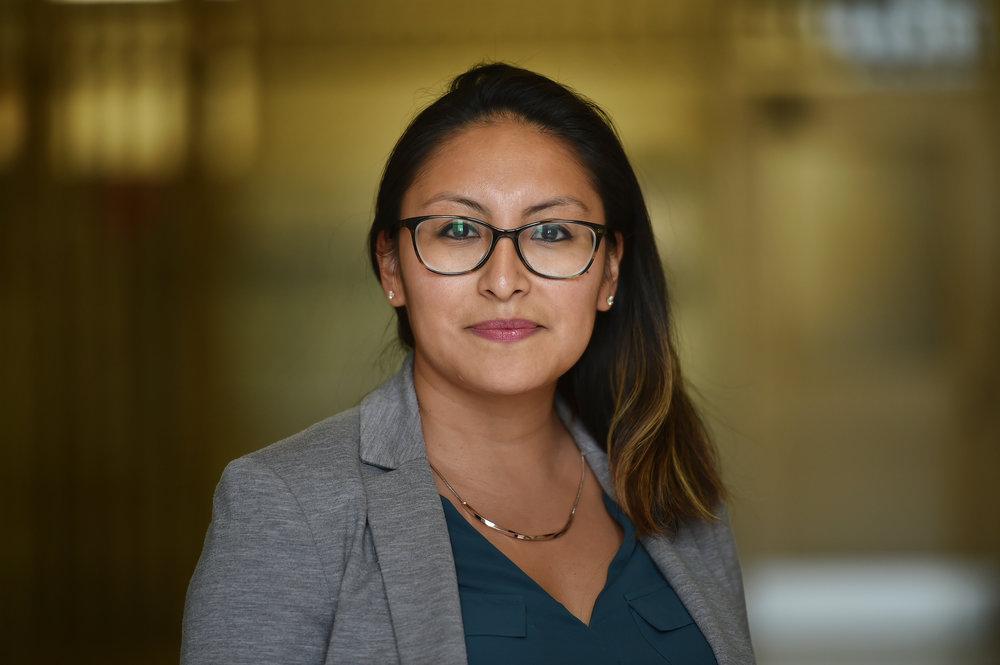 Anayeli Gomez-Brittain will serve as Katz's policy advisor. Photos courtesy of Borough Hall.