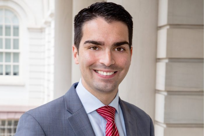 Councilmember Eric Ulrich finished second, but earned the most votes in Queens. Photo courtesy of the Ulrich campaign
