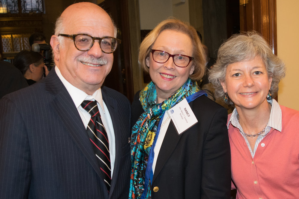From left: Hon. Jeffrey Sunshine, Hon. Nancy Sunshine and Aprilanne Agostino, clerk of the Appellate Division, Second Department.