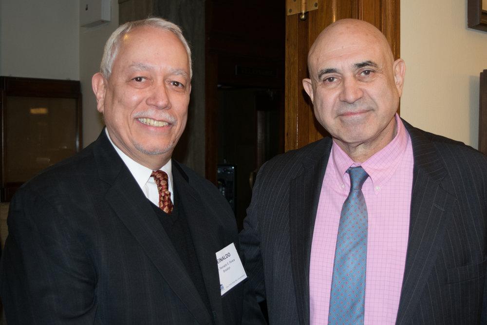 Hon. Reinaldo Rivera (left) and Hon. John Leventhal.