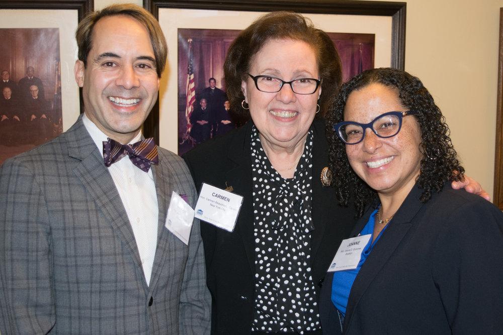 From left: Hon. Javier Vargas, Hon. Carmen Beauchamp Ciparick and Hon. Joanne Quinones.