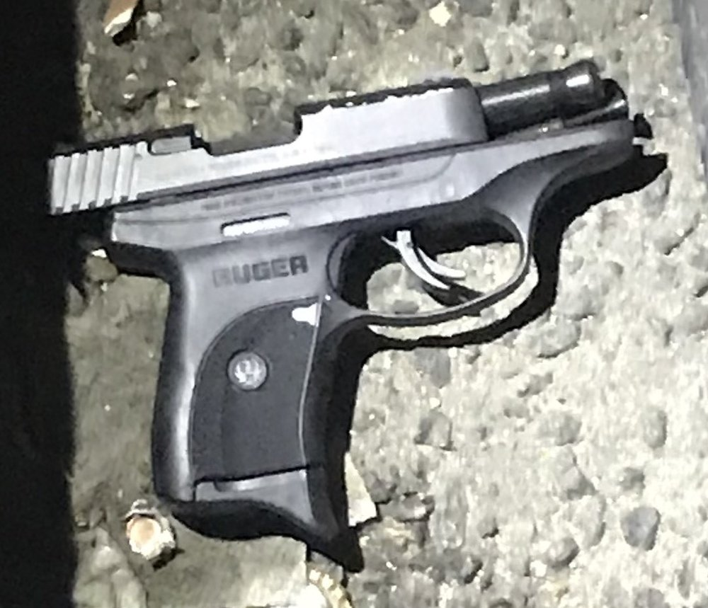 The firearm that police believe was used in a shooting outside of the RRR Bar & Lounge in Ozone Park. Photo courtesy of the NYPD.